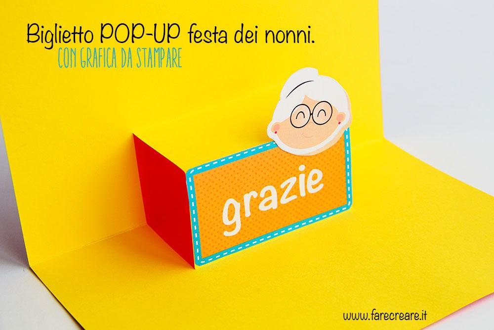 Biglietto Auguri Matrimonio Pop Up : Biglietto pop up facile per la festa dei nonni grafica free