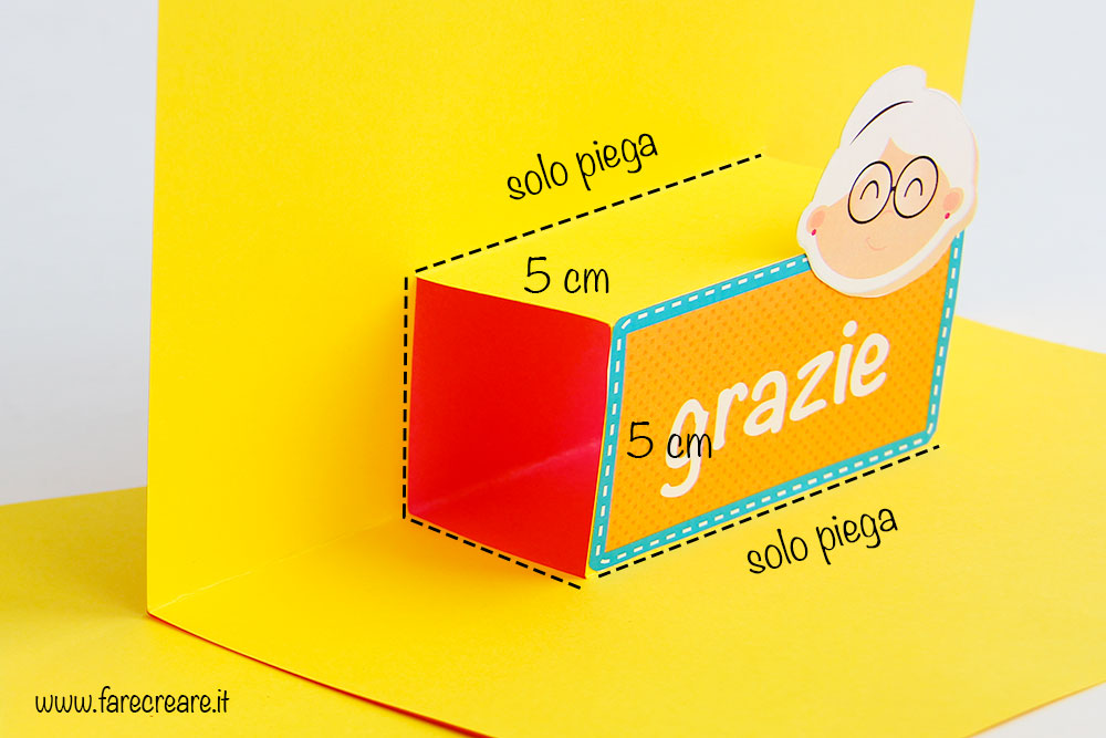 Preferenza Biglietto pop-up facile per la Festa dei Nonni : grafica free. SW98