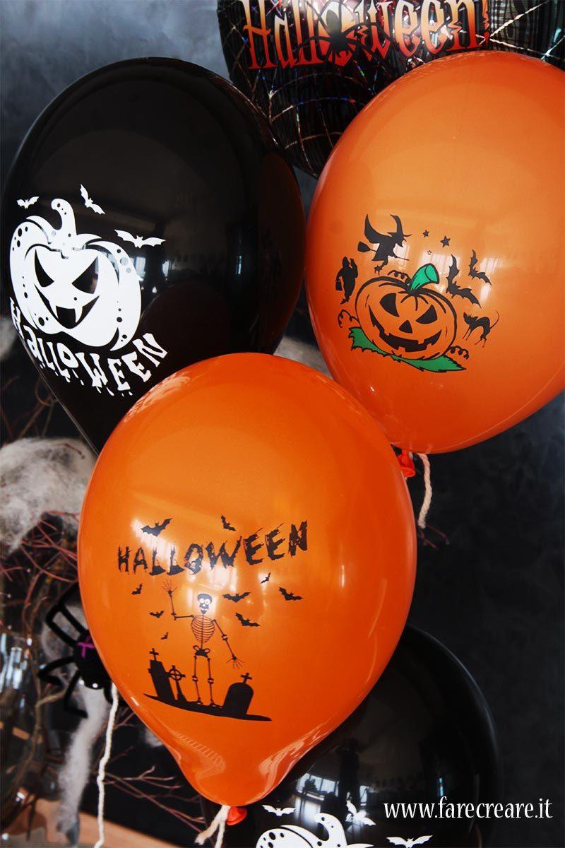 Palloncini halloween dove trovarli - neri e arancioni.
