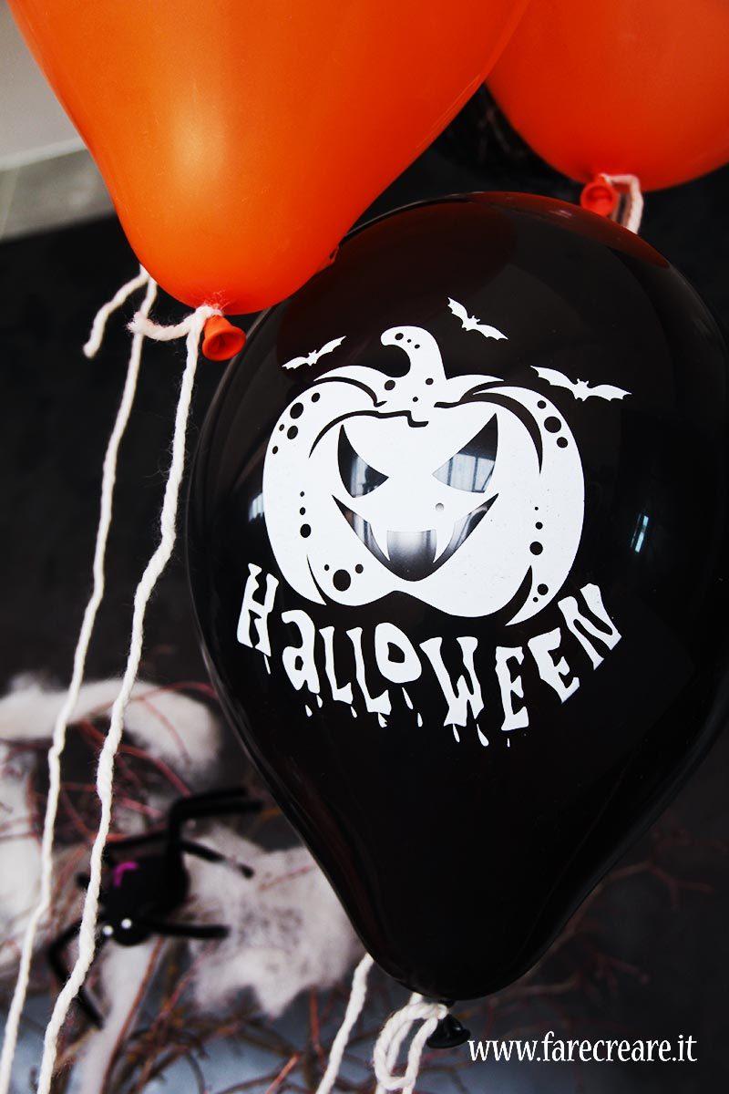 Palloncini per Halloween nero con zucca.