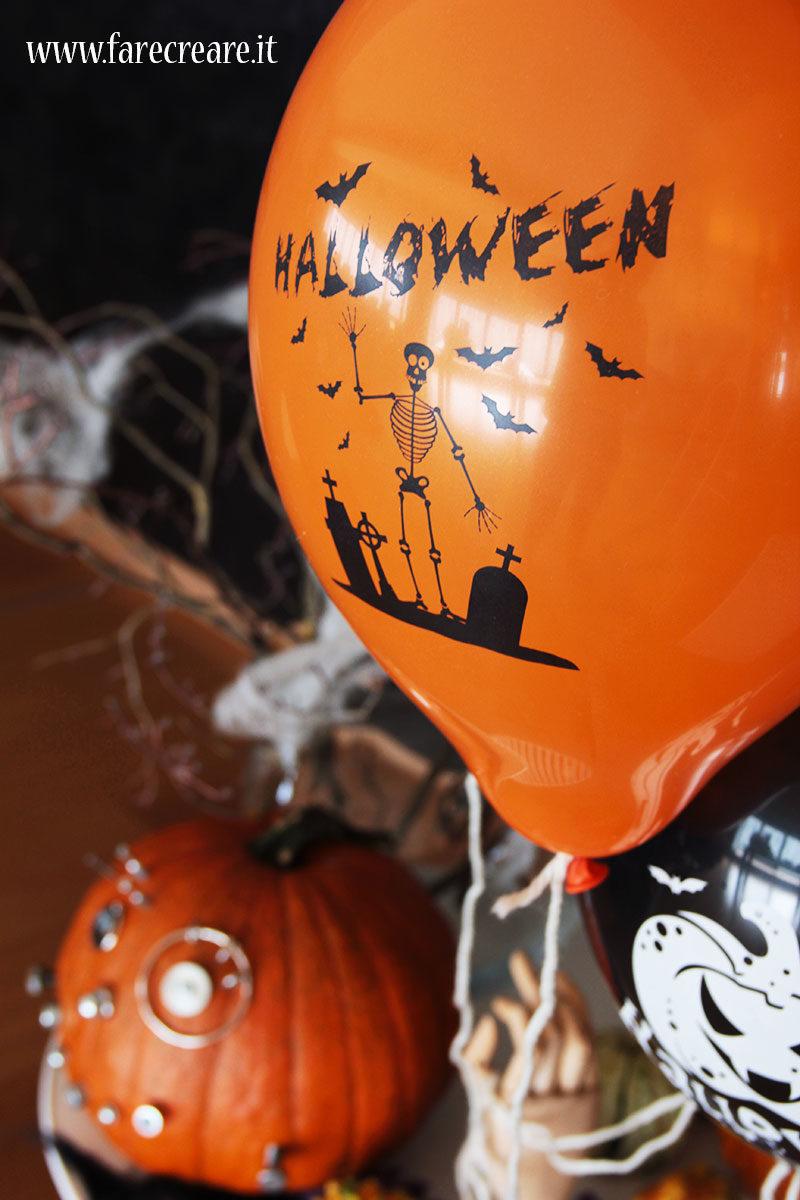 Palloncino Halloween scheletro.