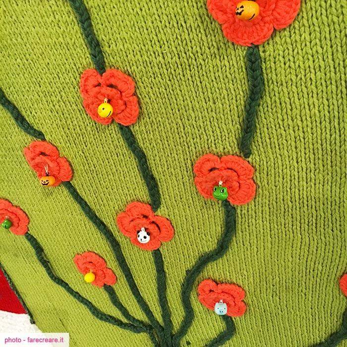 Abilmente Vicenza speciale crochet. Pannello decorato a uncinetto.