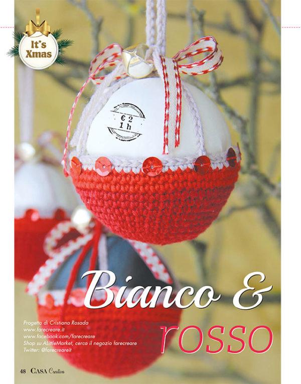 Casa Creativa Natale palle di Natale, dai da te a uncinetto con spiegzioni - edicola.