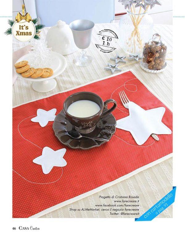 Casa Creativa Natale - tovaglietta fai da te con stelle.