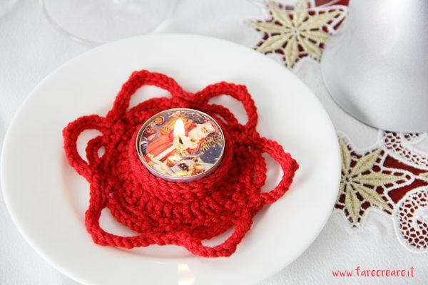 Segnaposto A Uncinetto Per Natale Il Portacandela Farecreare