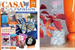 Idee creative in edicola: amigurumi schemi riviste - vaso in lana su Casa Creativa di Gennaio.