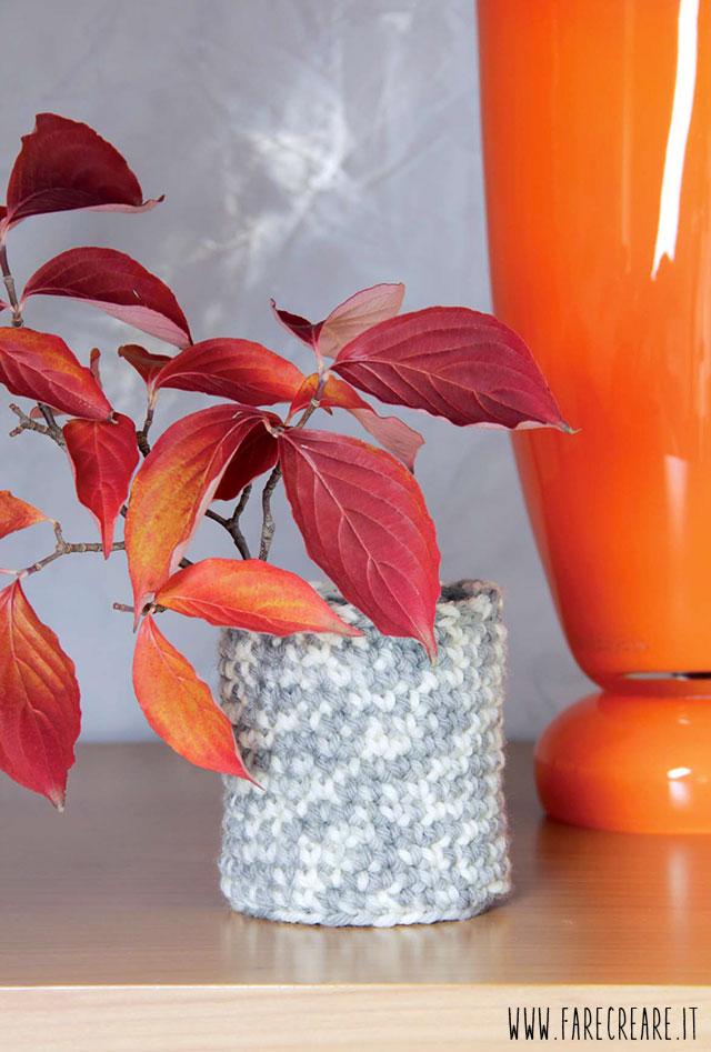 Idee creative in edicola: amigurumi schemi riviste - vaso in lana.