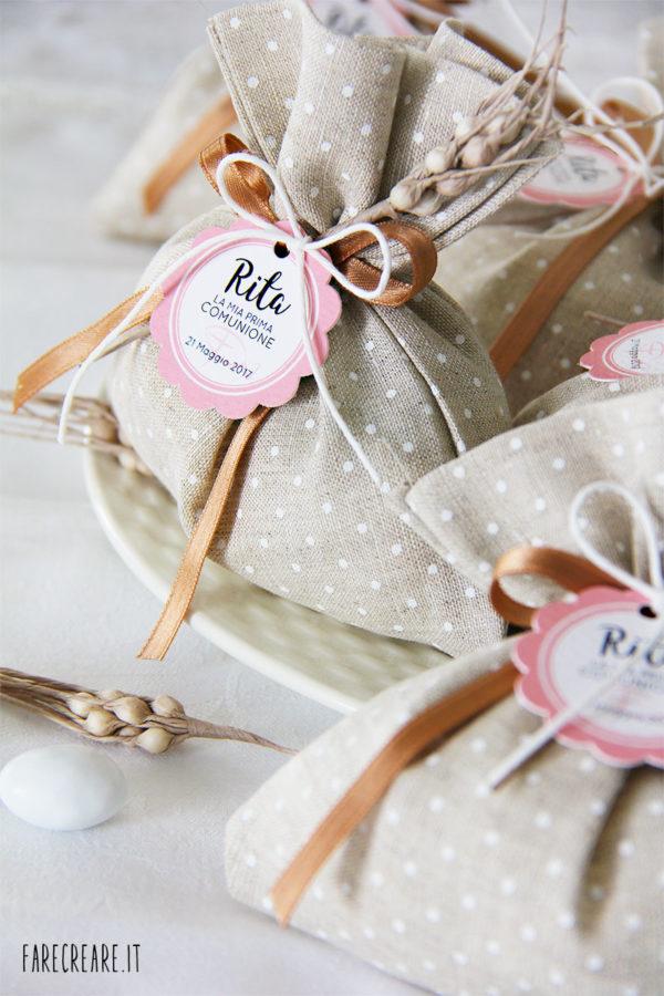 Sacchetto portaconfetti per matrimonio o prima comunione.