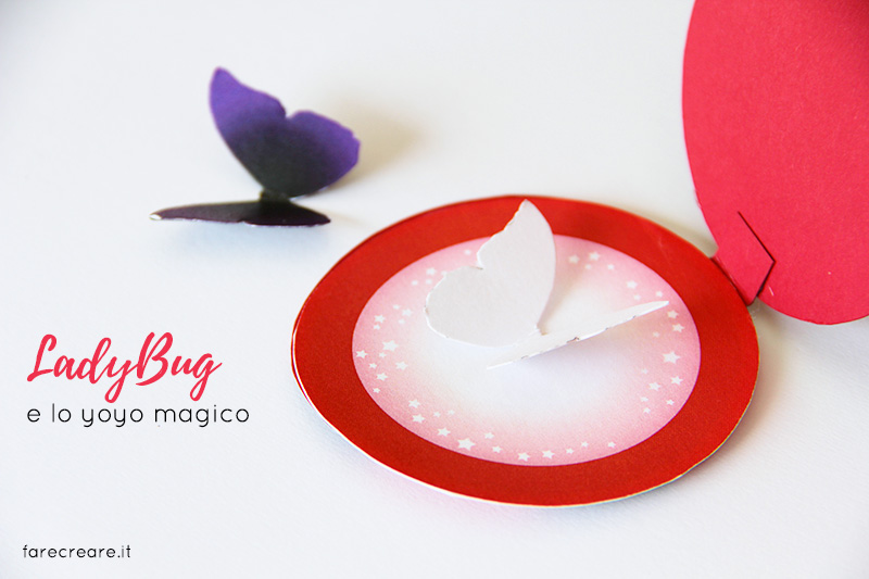 Come fare lo yoyo di Lady bug in carta- Free template da stampare