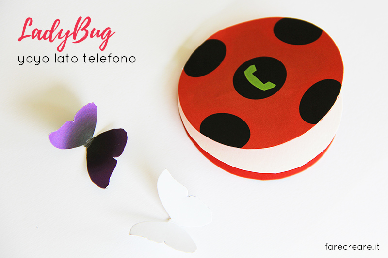 Come fare lo yoyo di Lady bug in carta- Free template da stampare del miraculus.