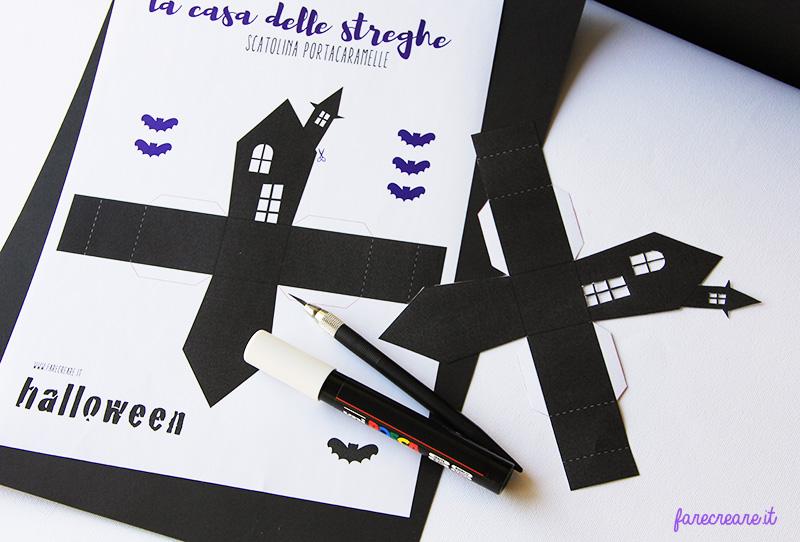 casa dell strega portaconfetti tutorial da stampare