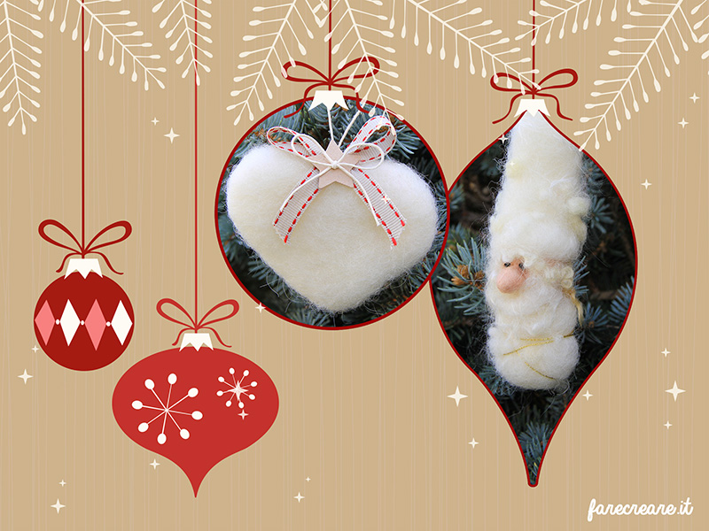 Regali Di Natale In Pannolenci.Xmas Special Regali Di Natale In Lana Cardata Farecreare