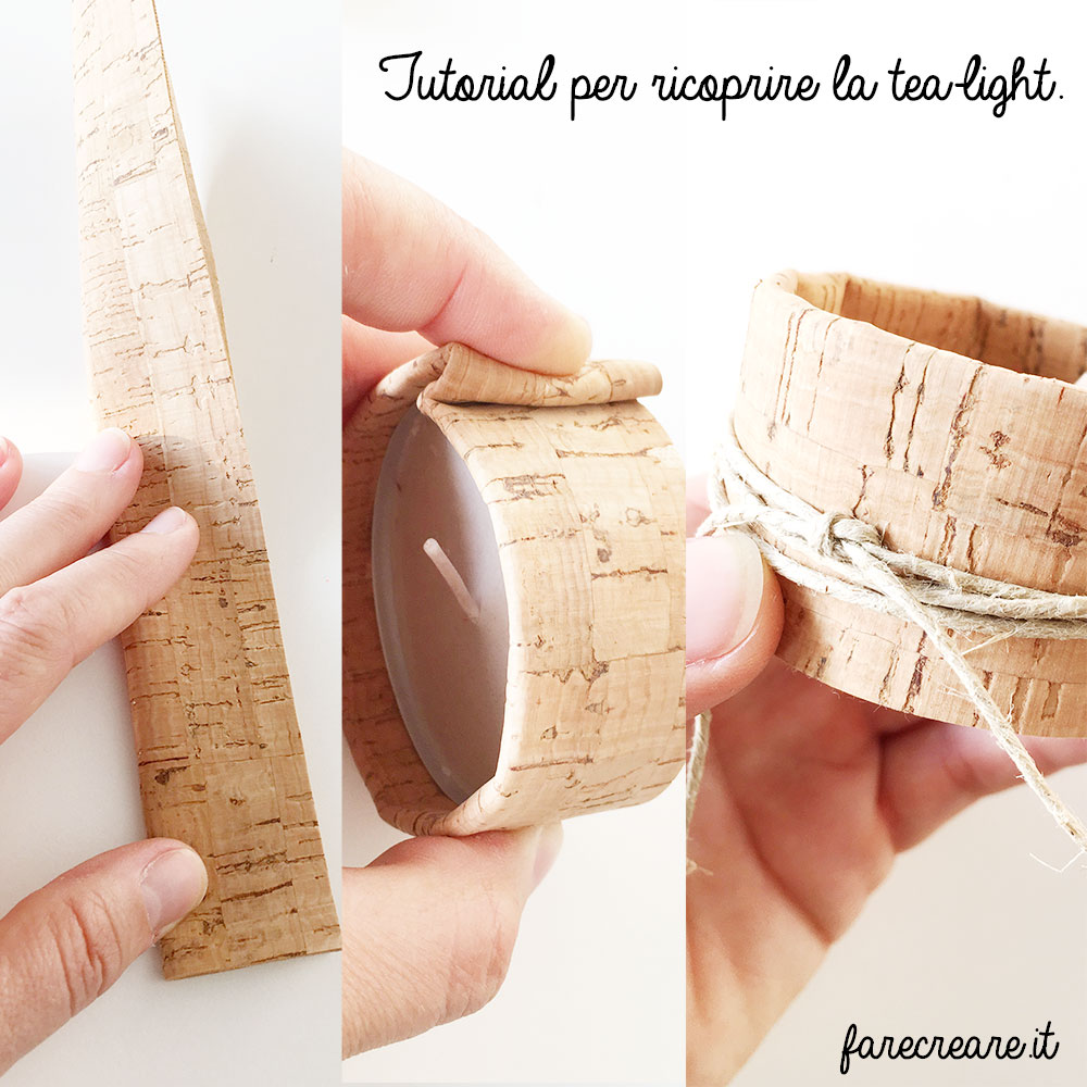 Tutorial per rivestire le tealight - le tre fasi.