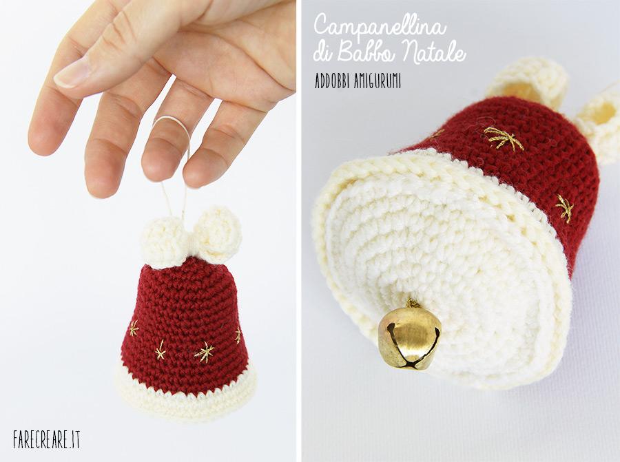Copertina campanella di Natale colore rosso bordo.