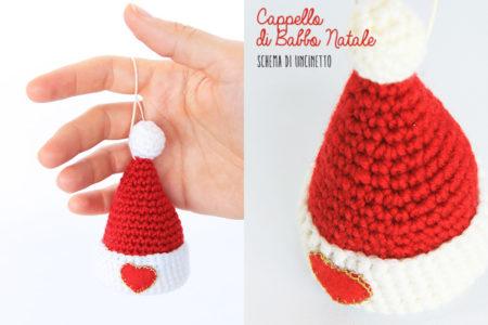 Cappello di Babbo Natale a uncinetto - guida e schema.