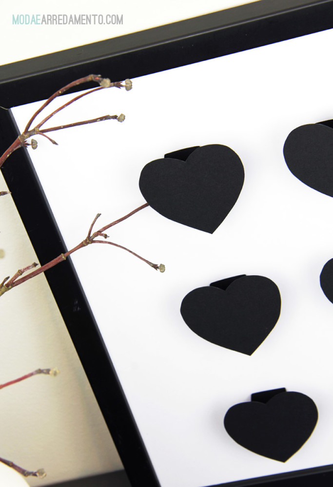 cuori per creare un quadro per san valentino