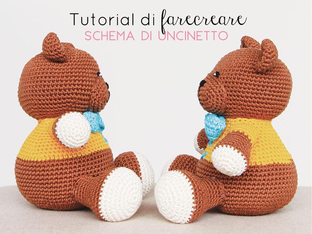"Amigurumi Crochet Pallina di natale ""Orsetto"" Amigurumi | How to ... | 750x1000"