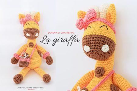 Schema di uncinetto animali amigurumi - la giraffa - in italiano con spiegazioni punti base di uncinetto.