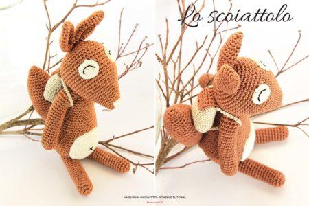 Come fare uno scoiattolo a uncinetto - schema facile da scaricare.