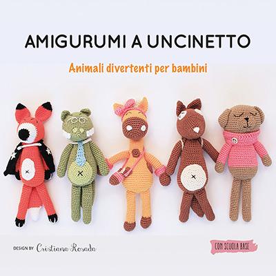 libro di amigurumi - schemi italiano animali